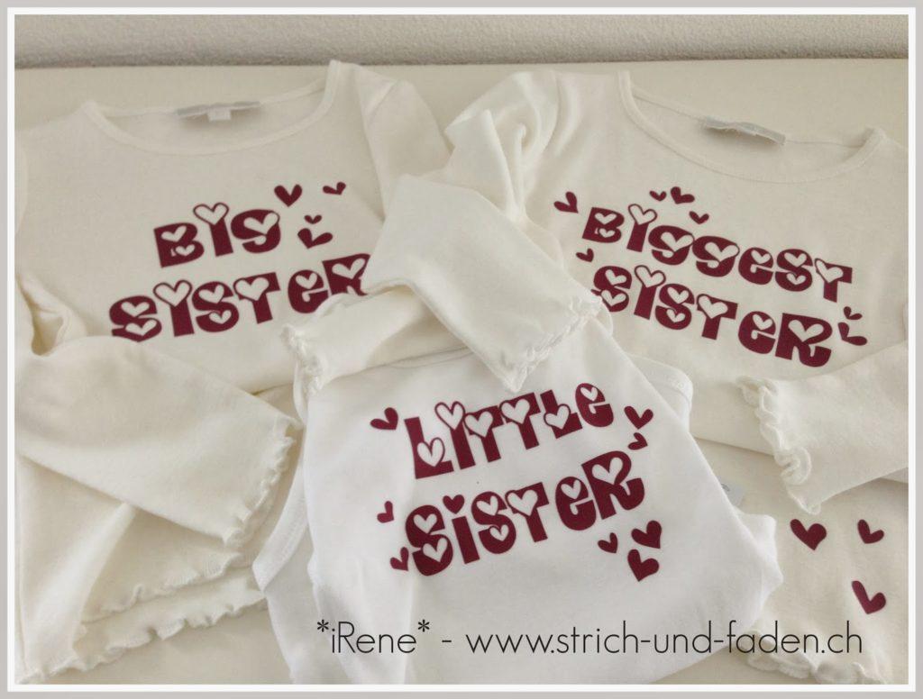 mit Strich und Faden   big sister little sister biggest sister plotter shirts