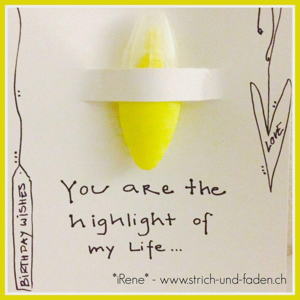 mit Strich und Faden | you are my Highlight - Postcard
