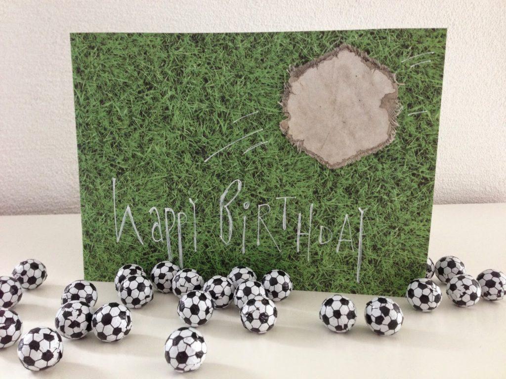 mit Strich und Faden   Happy Birthday Fussball Junge