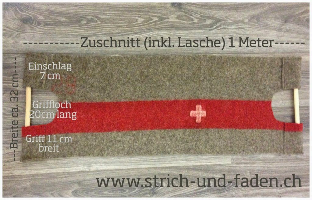 mit Strich und Faden   Kaminfeuertasche DIY Anleitung