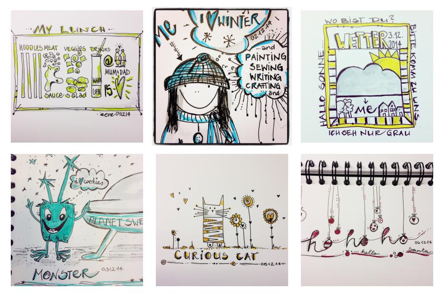 mit Strich und Faden | Adventskalender Sketch Doodle Sketchattack