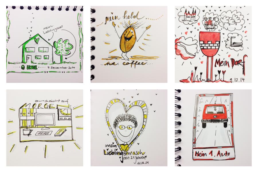 Adventskalender Sketch Doodle Sketchattack