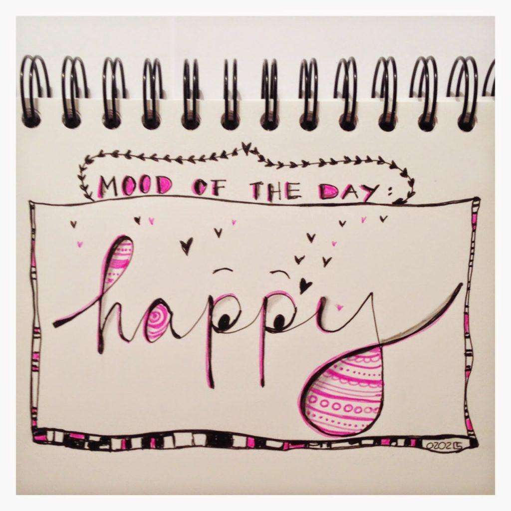 mit Strich und Faden   Mood of the Day - HAPPY - Sketch Doodle