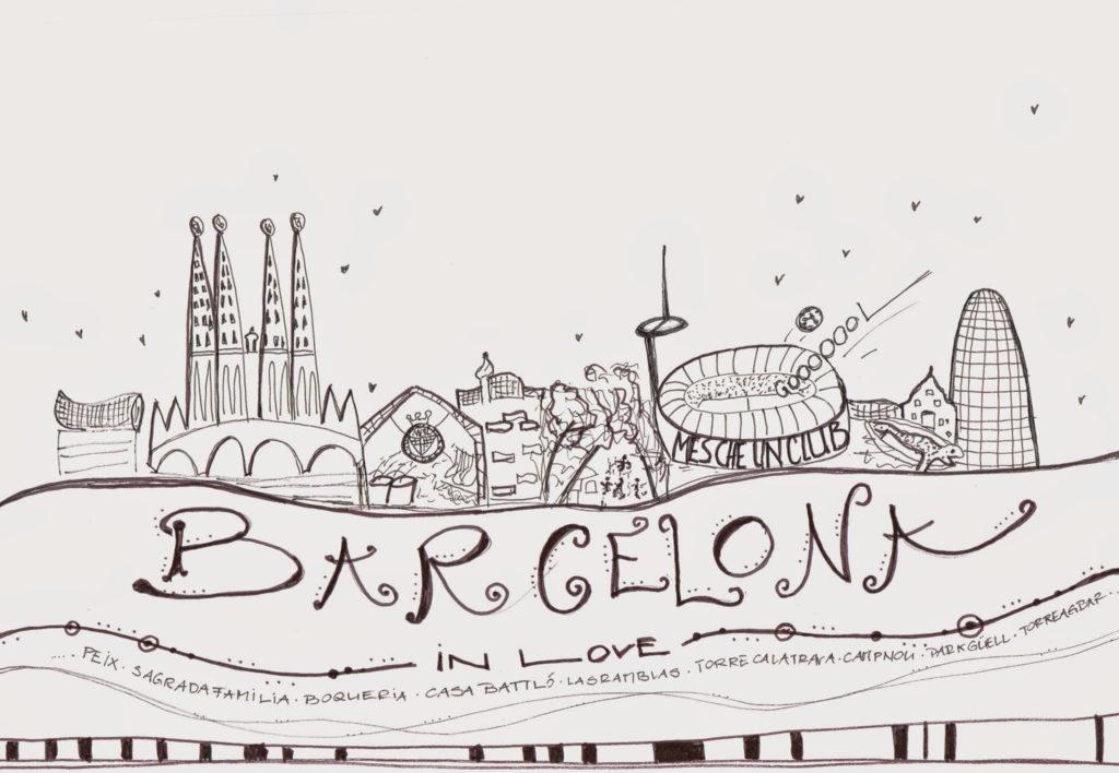 mit Strich und Faden | Doodle Sketch from Barcelona