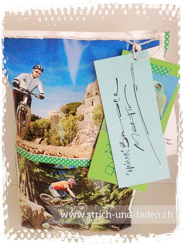 mit Strich und Faden | Geburtstagsgeschenk für den Biker Bruder