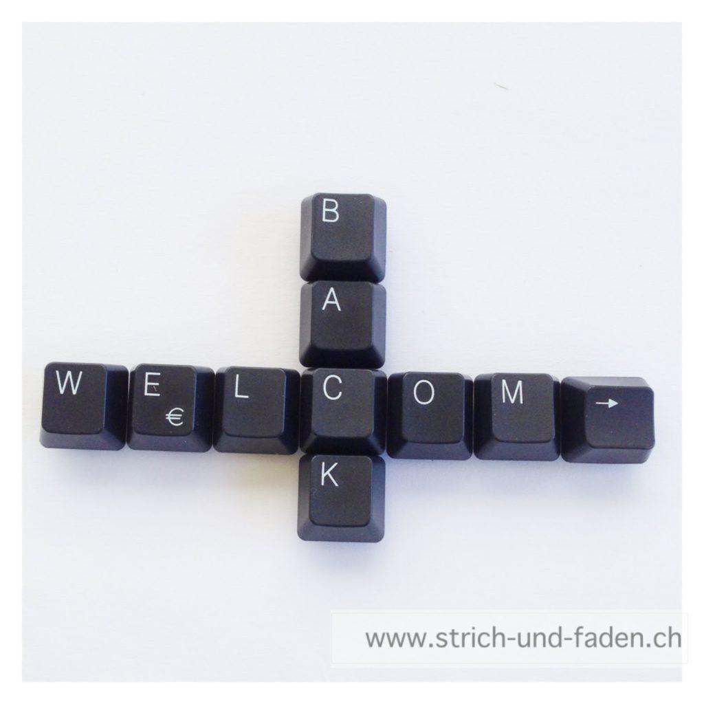 Strich und Faden | Welcome Back Keyboard Magnet Tastatur