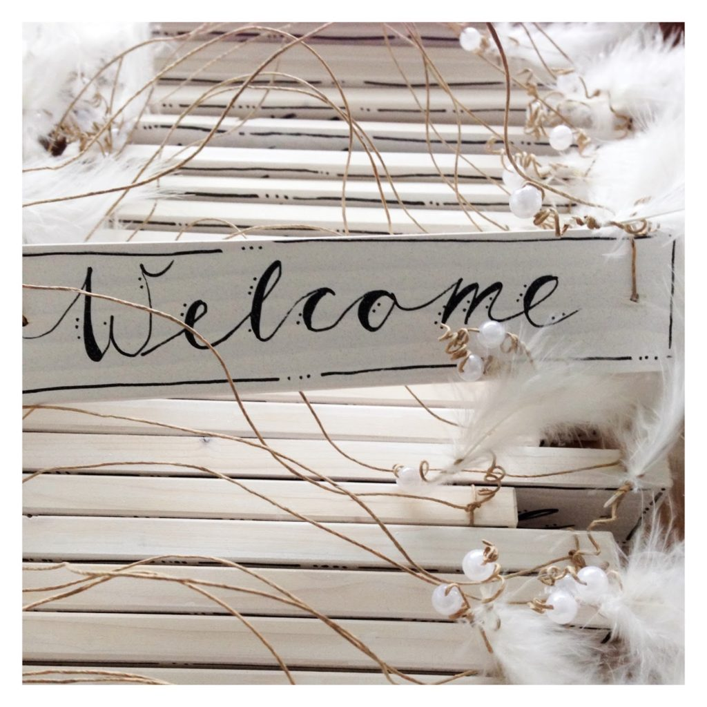 mit Strich und Faden: Welcome Türschild |Willkommen