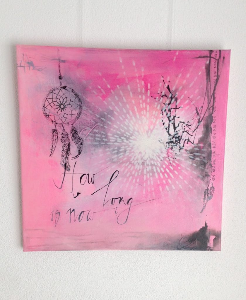 mit Strich und Faden: how long is now - acryl on canvas 50x50