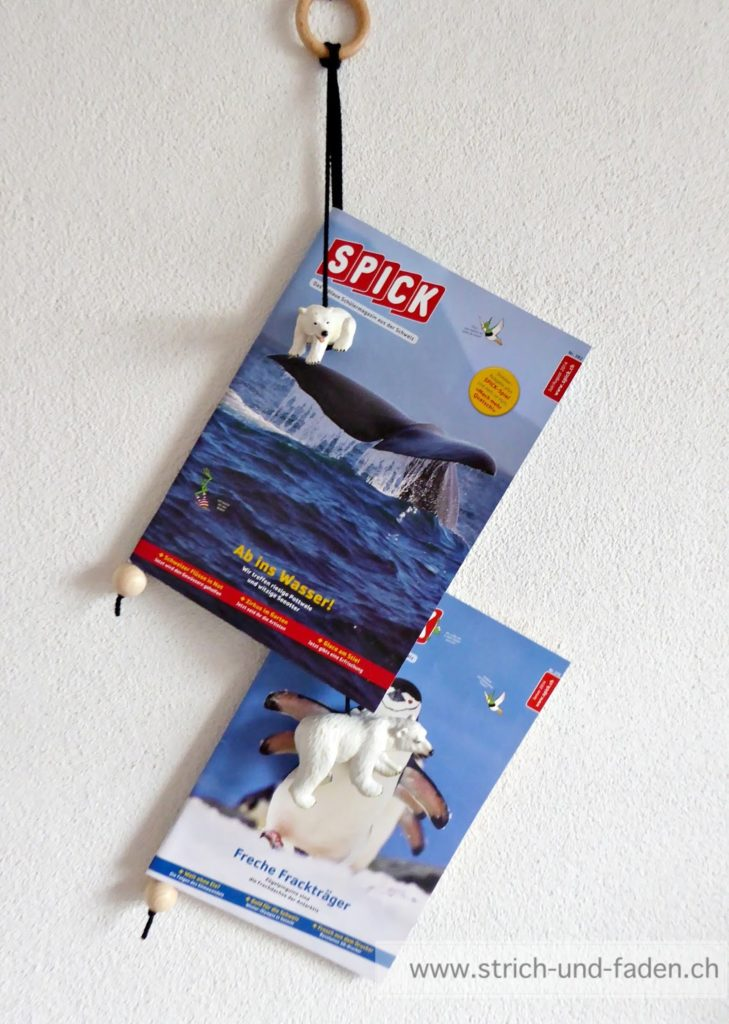 mit Strich und Faden: Zeitschriftenhalter fürs Kinderzimmer