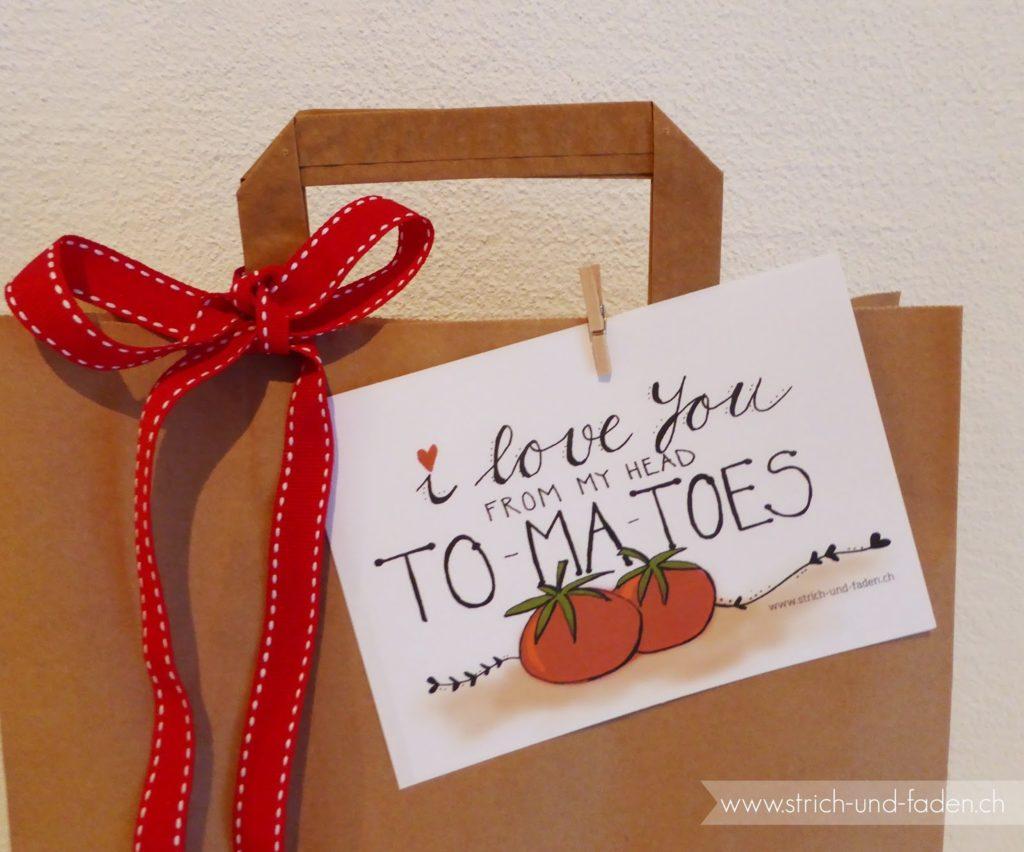 mit Strich und Faden: I love you from my head tomatoes  zum Ausdrucken