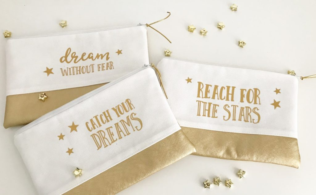 mit Strich und Faden: dream without fear |catch your dreams |reach for the stars