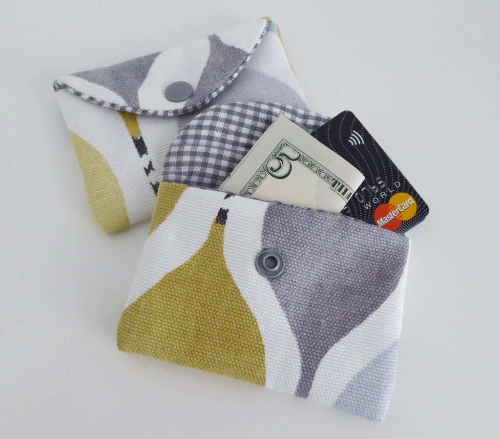 mit Strich und Faden: Portemonnaie mini