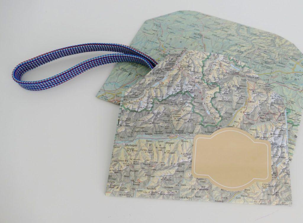 mit Strich und Faden: Couvert Landkarte
