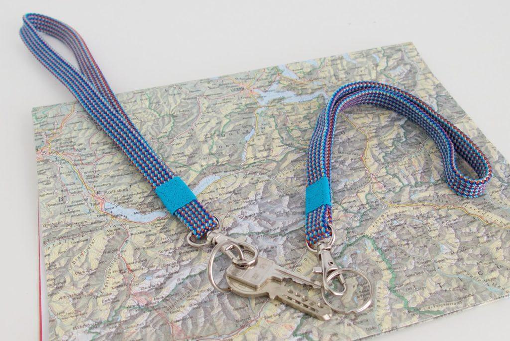 mit Strich und Faden: Schlüsselanhänger Kletterseil